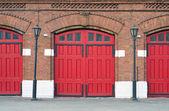 Red old door