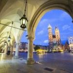 Mary's Church and Cloth's Hall on the Krakow marke...