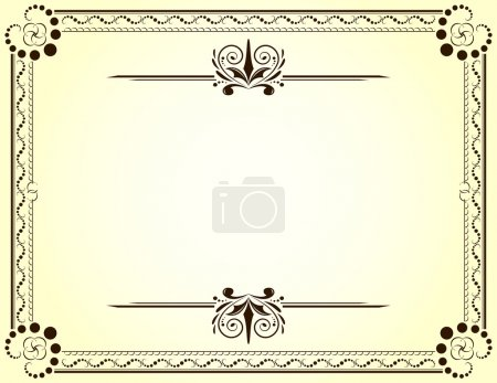 Illustration for Certificate or Diploma Blank Template - Vector illustration - Royalty Free Image