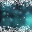 Decorative Vector Holiday Background with Snowflak...