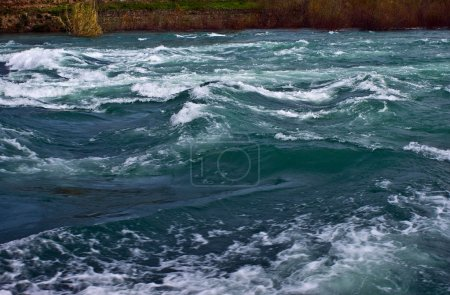 Rough river water
