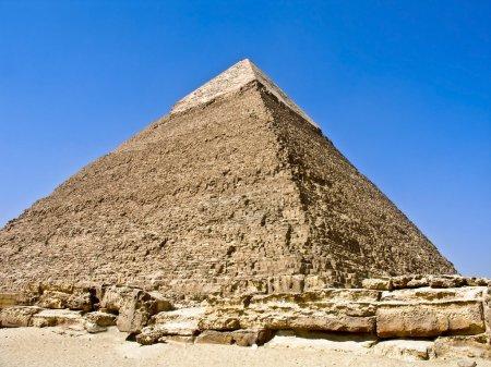 Photo pour La pyramide de Khéphren, à Gizeh, Égypte - image libre de droit