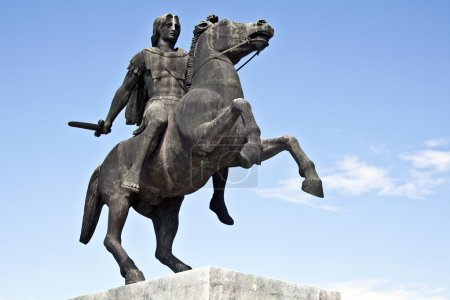 Statue of King Alexander the Great in Thessaloniki...