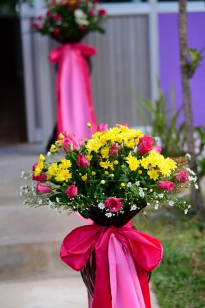 Flower entrance wedding party