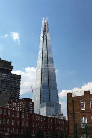 The Shard, designed by Renzo Piano, is a 95-storey skyscraper in London