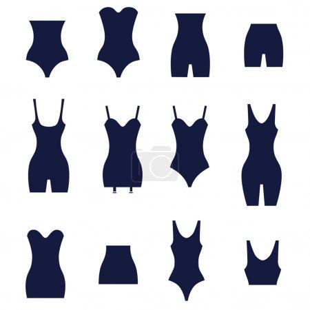 Different types of women's waist corrective underwear