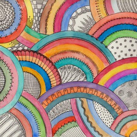 Aquarell dekorative Regenbogen