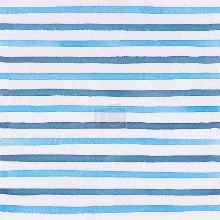 Aquarelle rayures bleues