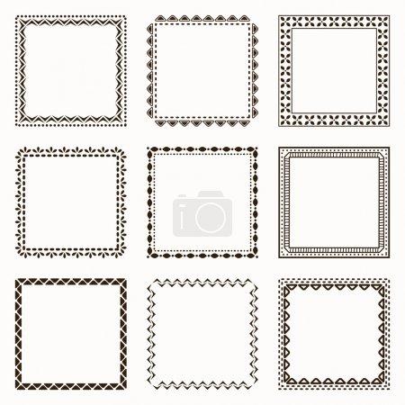 Illustration pour Collection de cadres géométriques - image libre de droit