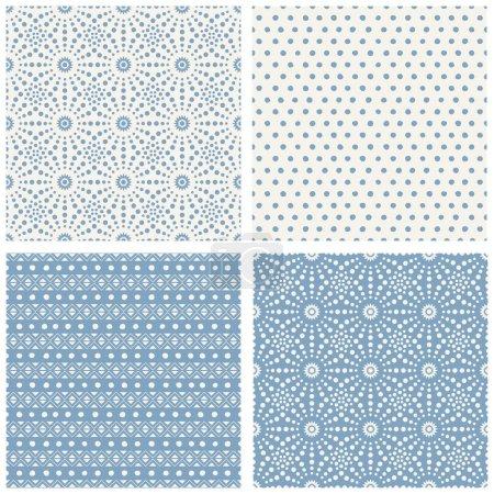 Set of simple geometric patterns...