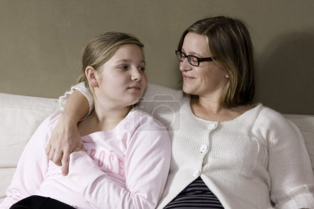 Photo for Mother and daughter having conversation - Royalty Free Image