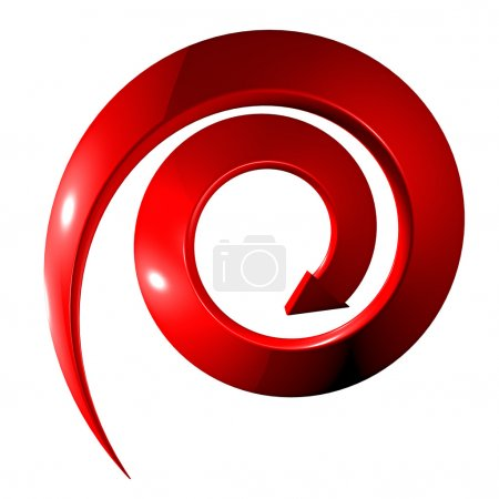 Rotate Red arrow on white background