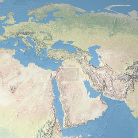 Photo pour Carte d'Europe, d'Asie et du Moyen-Orient. Éléments de cette image fournis par la NASA - image libre de droit