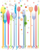Cutlery colorful card