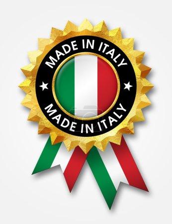 Photo pour Faite dans l'insigne de l'Italie - image libre de droit