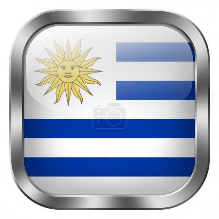 Photo pour Bouton drapeau uruguay - image libre de droit