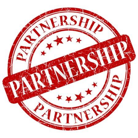Photo pour Timbre de partenariat - image libre de droit