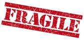 Fragile red grunge stamp