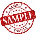 Sample grunge red round stamp...