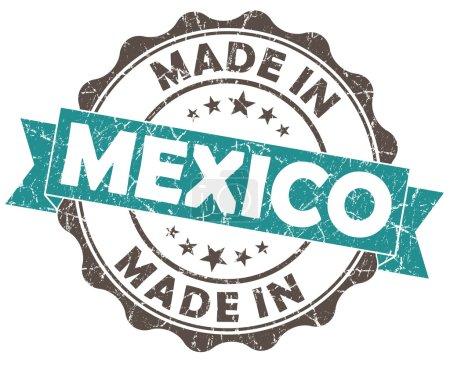 Photo pour Faite en sceau de grunge Mexique bleu - image libre de droit