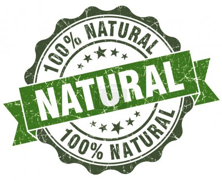 Photo for Natural green grunge retro style isolated seal - Royalty Free Image