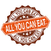 All you can eat grungy stamp isolated on white background
