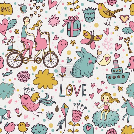 Nice romantic seamless pattern