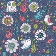 Stylish floral seamless pattern in modern style...