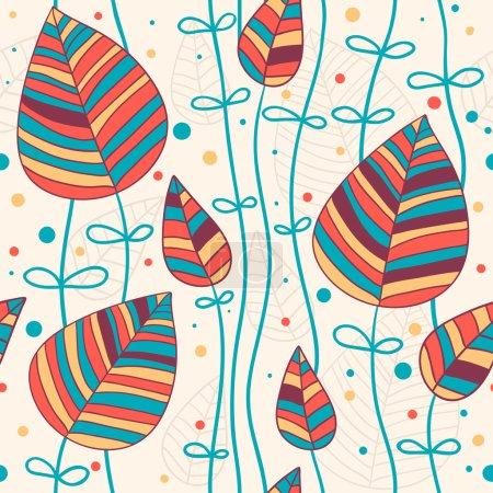 Illustration pour Motif floral sans couture - image libre de droit