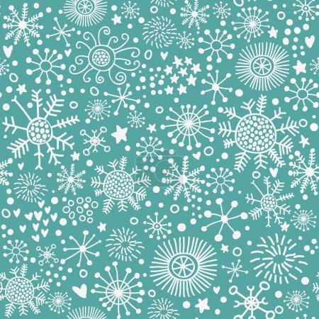Christmas pattern, snowflakes