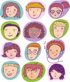 cool vector set of human cartoon individuals