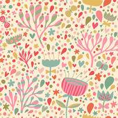 Bright floral seamless pattern Seamless pattern can be used for wallpaper pattern fills web page backgrounds surface textures Gorgeous seamless floral background