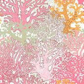 Světlé podvodní bezešvé vzor s krásné korály