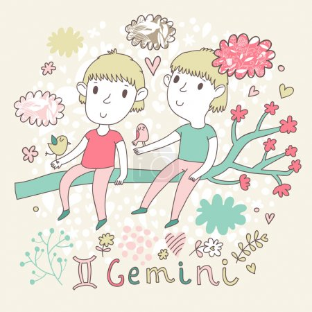 Cute zodiac sign - Gemini.