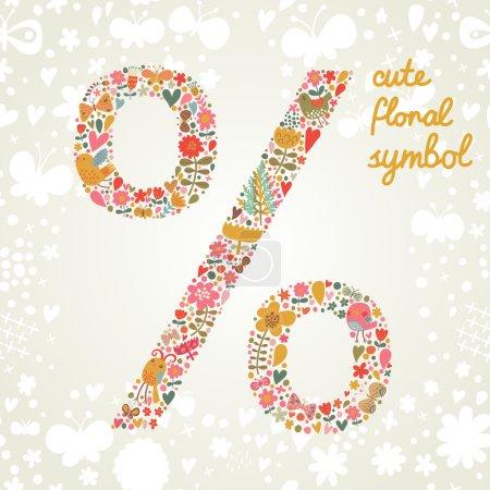 Percent symbol in vector.