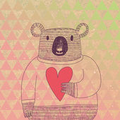 Cute koala bear in hipster style