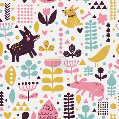 Bright childish seamless pattern