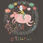 Cute zodiac sign - Taurus