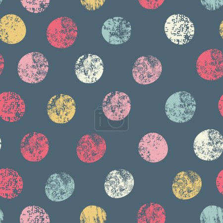 Illustration for Stylish polka dot background in modern colors - Royalty Free Image