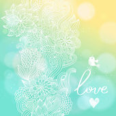 Bright floral background in sunny colors.