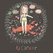 Cute zodiac sign - Cancer