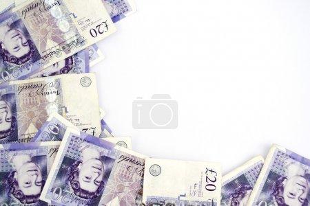 Twenty pound notes