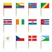Set of international flags