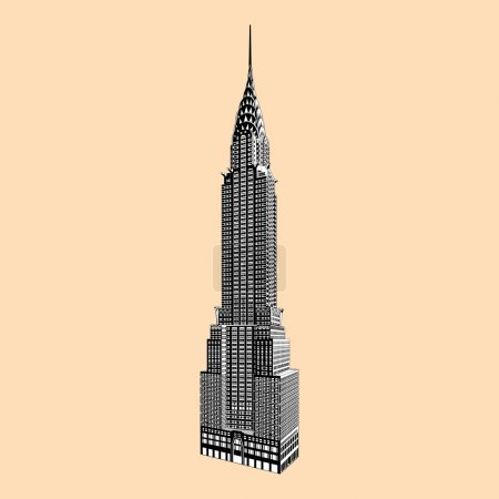 New York famous Empire State Building vector...