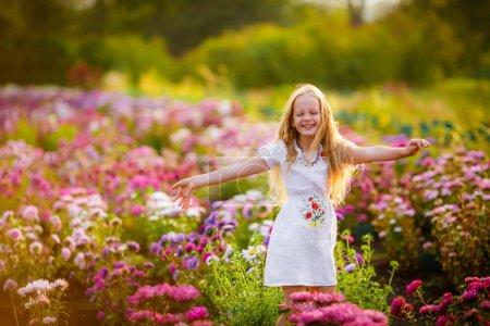 girl enjoying the nature