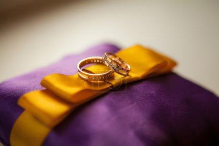 Photo for Wedding rings closeup - Royalty Free Image