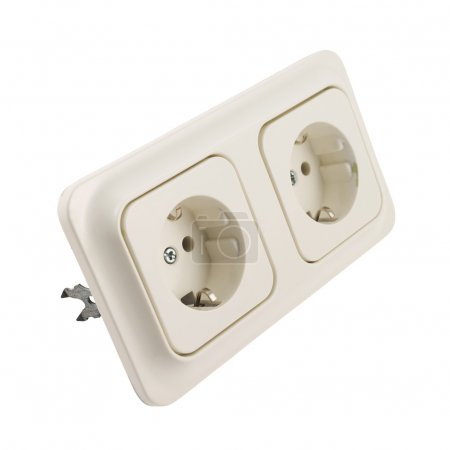 Electrical double jack socket isolated