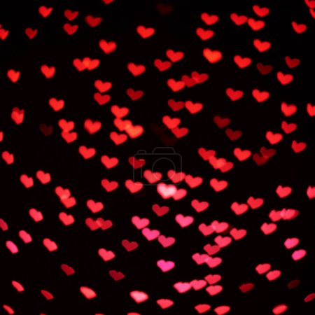 Red heart shaped background