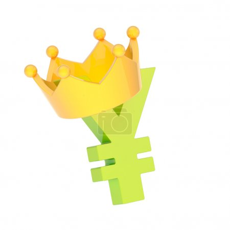Yen currency sign in a crown