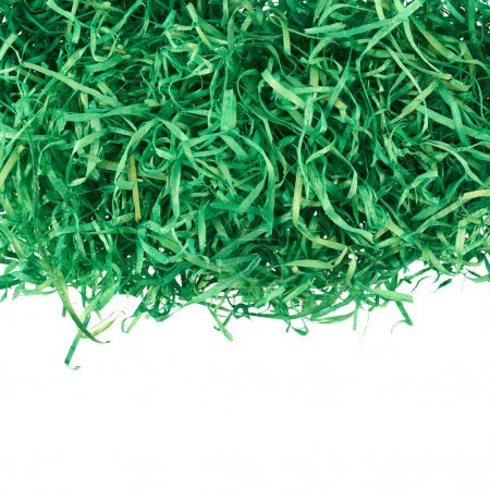 Green ribbons as artificial grass decoration